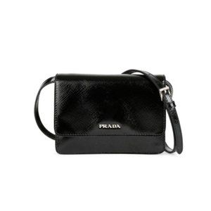 Prada leather mini crossbody bag
